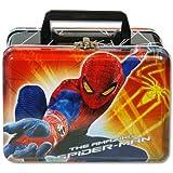 Lunch Box - Marvel - Spiderman - Metal Tin Case w/ Plastic Handle & Clasp