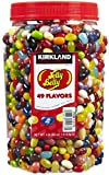 Delicious and fresh Kirkland Signature Jelly Belly Gourmet Jelly Beans in a large 4 pound plastic tub! 49 delicious assorted flavors !!!