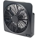 "O2Cool NEW 10"" Battery Operated Fan with Adapter (Gray, 1 Pack)"