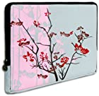 Pink Sparse Floral fit most of 10.1 inch Acer, Dell, HP, Samsung Netbook Laptop Sleeve Carrying Case