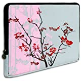 Pink Sparse Floral fit most of 10.1 inch Acer, Dell, HP, Samsung Netbook Laptop Sleeve Carrying Case ~ MyGift