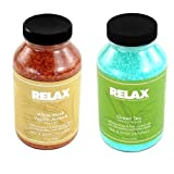 Green Tea & White Musk Vanilla Jasmine Aromatherapy All Natural Spa Crystals Dead Sea Salts -22 Oz- Hot Tub Whirlpool...
