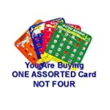 Regal Travel Auto Bingo Game Card - Car Bingo, Assorted Colors (Sold Individually)