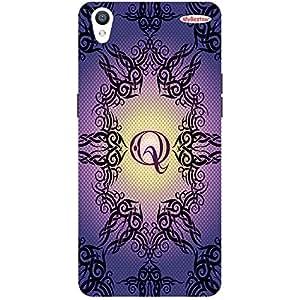 Lavender Black Design Q - Mobile Back Case Cover For Oppo F1 Plus
