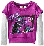 PUMA Little Girls Little Pullover Slider Sweatshirt