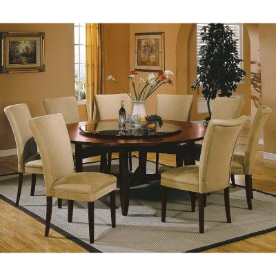 Steve Silver Avenue 9 Piece 72 Inch Round Dining Table Set   SSC497
