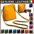 Big Handbag Shop Womens Vera Pelle Mini Little Genuine Italian Leather Shoulder Cross Body Handbag