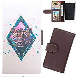 DooDa - For Micromax Canvas Spark Q380 PU Leather Designer Fashionable Fancy Wallet Flip Case Cover Pouch With Card, ID & Cash Slots And Smooth Inner Velvet With Strong Magnetic Lock