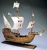 帆船模型キット サンタマリア (木製模型ツールセット 60分の帆船模型製作入門DVD及び和訳付き)