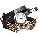 Ubesta Fashion Wing Bracelet Watch Quartz Movement Wrist Watch for Girl Women