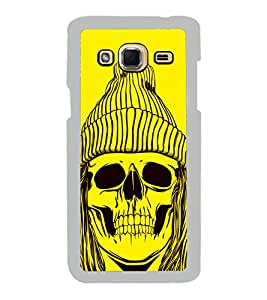 Skull with a Cap 2D Hard Polycarbonate Designer Back Case Cover for Samsung Galaxy J3 2016 :: Samsung Galaxy J3 2016 Duos :: Samsung Galaxy J3 2016 J320F J320A J320P J3109 J320M J320Y