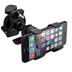 Intek Tough Bike Mount for iPhone 6 Plus 5 5S 5C 4 4S iPod Touch Galaxy S6 S5 S4 Note 4 Note 3 LG G4 HTC One Nokia Lumia Google Nexus Sony Xperia - Retail Packaging - Included