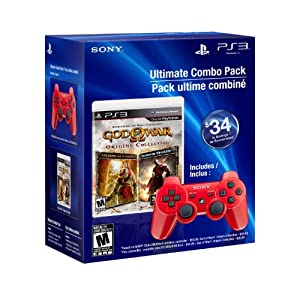 PS3 God of War Origins Collection and DualShock 3 - Red - Standard Edition