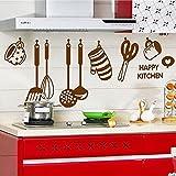 Amovible Stickers Muraux Mur Autocollant Ustensile Pour Cuisine Decal Art Diy Maison Decoration De La Cuisine...