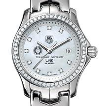 Texas A&M University TAG Heuer Watch - Women's Link with Diamond Bezel at M.LaHart