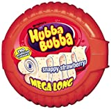 HUBBA BUBBA Bubble Tape Snappy Strawberry Bubble Gum 1.8 m (Pack of 12)