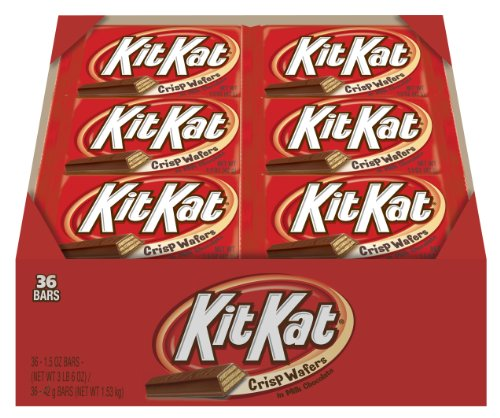 Kit Kat Candy Bar, Crisp Wafers in Milk Chocolate, 1.5-Ounce Bars (Pack of 36)