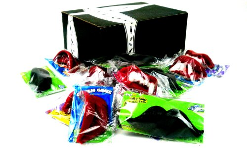 Wack-O-Wax Variety: Four 0.5 oz Packages Each of Wax Lips and Wax Fangs, and Four 0.4 oz Packages of Mr. Stache Wax Moustaches in a Gift Box (Concord Wax Lips compare prices)