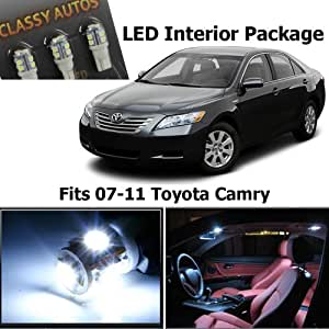 Amazon.com: Classy Autos Toyota Camry White Interior LED Package (6