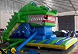 Inflatable drinking water Slides:Huge 25' Long blow up Crocodile slip and rebound House