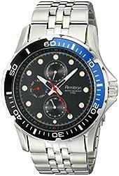 Armitron Men's 20/5040BLSV Stainless Steel Bracelet Watch with Two-Tone Bezel