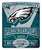NFL Philadelphia Eagles Marque Printed Fleece Throw, 50-inch by 60-inch