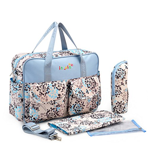 L.Sense Deluxe Multi-function Large Tote Baby Diaper Bag Set (Dandelion)