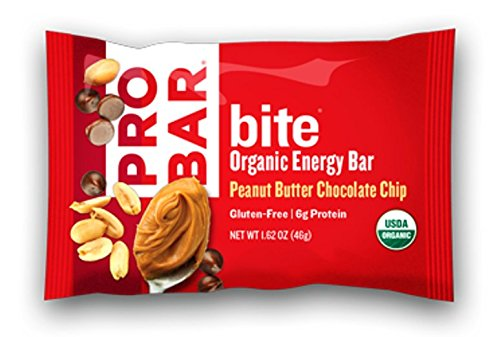 PROBAR bite Organic Snack Bar, Peanut Butter Chocolate Chip, 1.62 Ounce (Pack of 12) (Pro Energy compare prices)