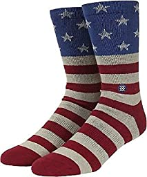 Stance Men's The Fourth Crew Sock, Red, Small/Medium