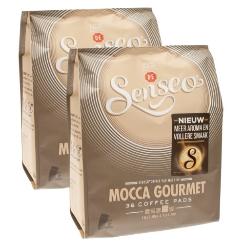 Choose Senseo Mocca Gourmet, Design, Pack of 2, 2 x 36 Coffee Pods - Douwe Egberts