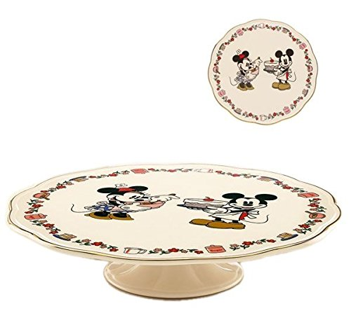 Disney'S Mickey & Minnie Sweet Treat Pedestal Cake Plate Stand For Cakes Cookies Cupcakes