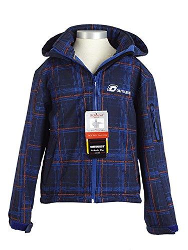 Outburst Jungen Soft Shell Jacke dunkelblau orange kariert 4050504167989 günstig kaufen