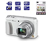 Panasonic Lumix DMC-TZ55EB-K TZ55 DMCTZ55 Compact Digital Camera - WHITE (16.0MP, 20x Optical Zoom, High Sensitivity MOS Sensor) 3 inch LCD - INCLUDES PHOTO PROJECTS BY SERIF DVD - (NEW MODEL OF DMC-TZ35 TZ35)
