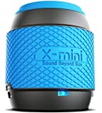 XMI X-Mini ME XAM16-B Portable Thumb Size Speaker with 3.5mm Jack Compatible with iPhone/iPad/iPod/Smartphones/Tablets/MP3 Player/Laptop - Blue