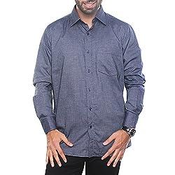 VinaraTrends Grey Color Poly Cotton Shirt For Men