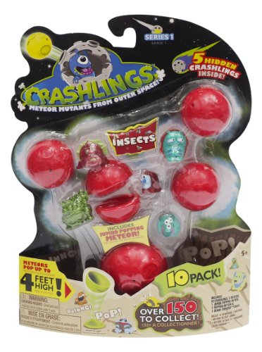Crashlings, Series 1 Mini Figures, Insects - 10 Pack - Random Selection - 1