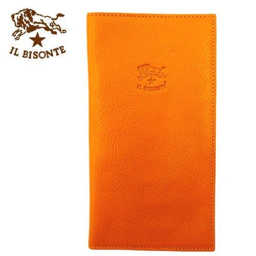 IL BISONTE【イルビゾンテ】 ニつ折長財布 C616 (並行輸入品) (166:オレンジ)