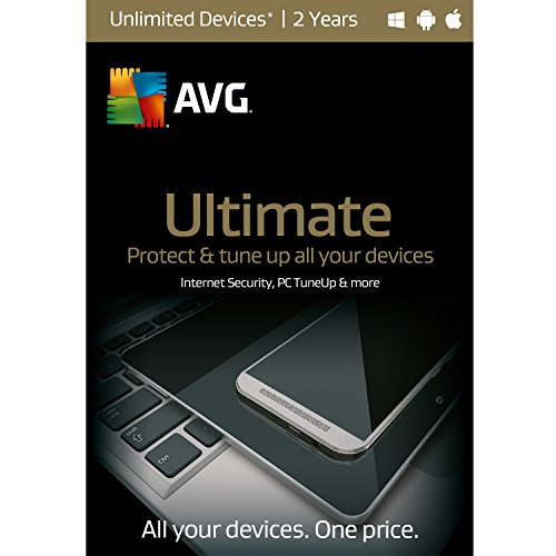 AVG Ultimate | Unlimited Devices| 2 Years (Avg Antivirus Software compare prices)