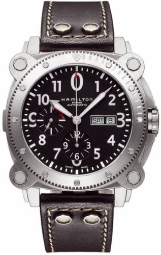 Hamilton Khaki BeLOWZERO Auto Chrono Black Dial Men's Watch #H78616733
