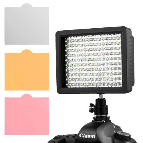 2 Pack Of Chromo Inc.® 160 Led Ci-160 Dimmable Ultra High Power Panel Digital Camera / Camcorder Video Light, Led Light For Canon, Nikon, Pentax, Panasonic,Sony, Samsung And Olympus Digital Slr Cameras