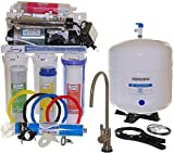 iSpring RCC1UP-AK - US Legendary 100GPD 7-Stage Reverse Osmosis Water Filter System With Pump, Alkaline PH+ and UV 11W
