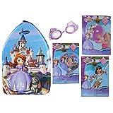 Disneys Sofia The First Ultimate Swim Bundle Kickboard, Swimmies, Beach Ball, Swim Ring, And Goggles