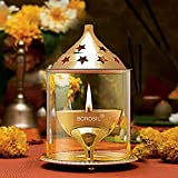 #8: Borosil Akhand Diya (Medium, Brass)