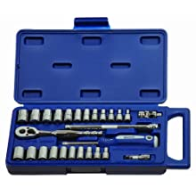 JH Williams 50661 27-Piece 1/4-Inch Drive Socket and Drive Tool Set