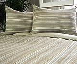 Park B. Smith Eco Sahara Stripe Comforter Set, Mushroom, Full