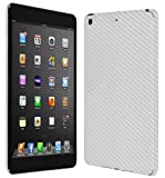 Skinomi® TechSkin - Apple iPad mini With Retina Display Wi-Fi + LTE 2013 (2nd Generation) Screen Protector Ultra Clear Shield + Silver Carbon Fiber Full Body Protective Skin + Lifetime Warranty
