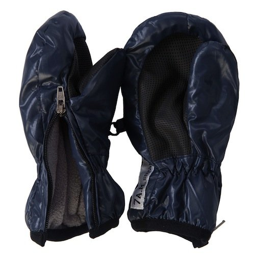 7AM Enfant Zippered Mittens, Midnight Blue, Medium