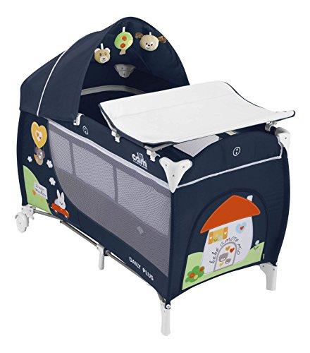 Cam Il Mondo Del Bambino L113 Daily Plus Lettino da Campeggio, Casetta, Blu