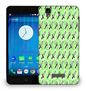 Snoogg Sword And Axe Printed Protective Phone Back Case Cover For Micromax Yu Yureka
