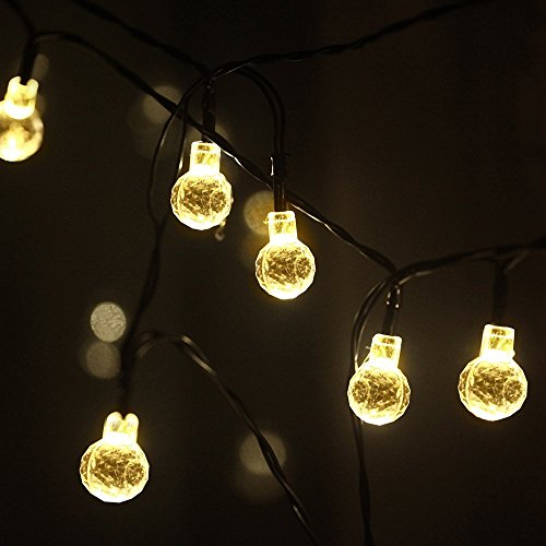 Globe String Lights Solar : Sunniemart 20 LED Round Ball Globe String Lights Solar Powered Fairy Lights New eBay